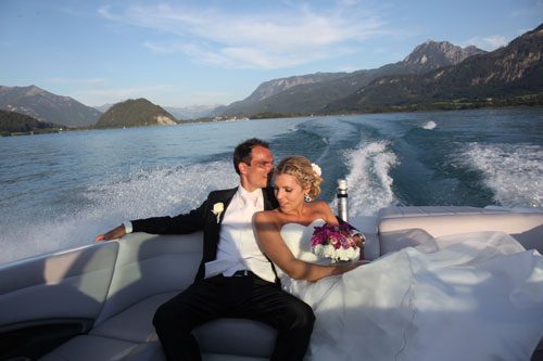 Wedding Couple on a boat